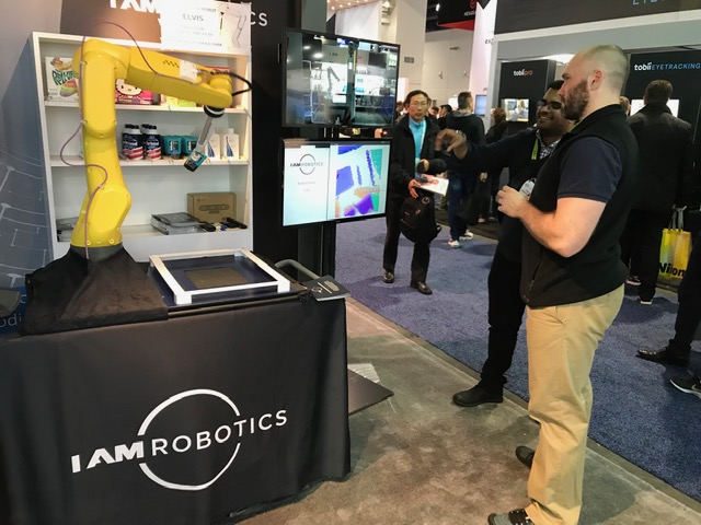 IAM Robotics at Orbbec Booth at CES 2019