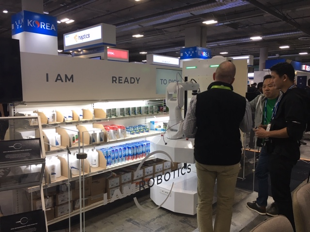 IAM Robotics at Plug and Play Booth at CES 2019