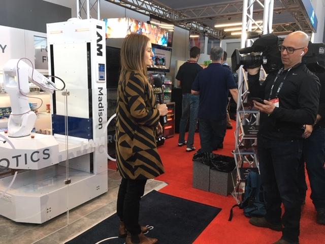 Fox Business News at the IAM Robotics NRF 2019 Booth